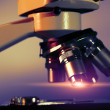 Research microscope — Stock Photo
