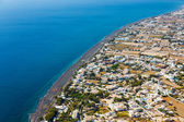 View of perissa on the island of Santorini, Greece — Stock Photo