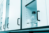 Sodium bicarbonate in the laboratory box — Stockfoto