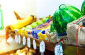 Fruit and vegetable shop counter — Stockfoto