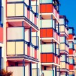 Stock Photo: Building with balconies