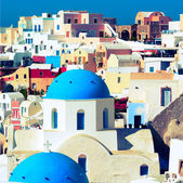 Orthodox church on the island of Santorini, Greece — Stock Photo