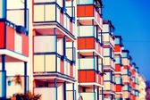 Building with balconies — Stock Photo
