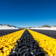 Yellow stripes on highway — Stockfoto #38079149