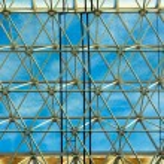 Постер, плакат: Metal grille and window industrial hangar