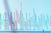 Dna chromatogram — Stock Photo