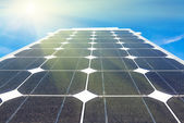 Electric panel solar power elements — Stock Photo