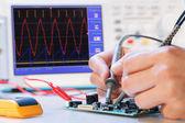 Développement d'un micro processeur électronique — Photo
