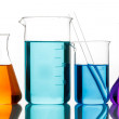 Chemical glassware for experiments — Stock Photo
