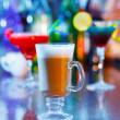 Irish coffee on bar interior — Stock Photo #40503291