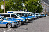Police cars the German city Gera — Stock Photo