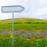 Blank road sign arrow — Stock Photo #44135909