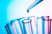 Scientific concept, pipette and test tube — Stock Photo