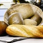 Bread in bascket — Stock Photo #46692579
