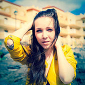 Girl with long hair  — Stock Photo