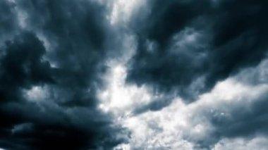 全景风暴云的天空 — 图库视频影像