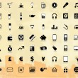 Royalty-Free Stock Vector Image: Big icon set with background