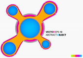Vector Round abstract background — 图库矢量图片