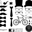 Hipster style icon set — Stock Vector #39191529