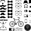 Hipster style icon set — Stock Vector #39191553