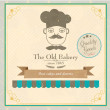 Bakery label in vintage style — Stock Vector