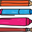 Pen, pencil, marker and brush — Stock Vector