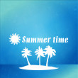 Summer time over grunge background — Stock Vector #39192713