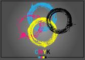 Abstract CMYK — Stock Vector