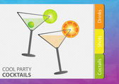 Cocktail party background — Stock Vector