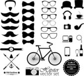 Hipster style icon set — Stock Vector