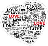 Heart typography — Stock Vector