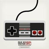 Retro game controller — Stock Vector