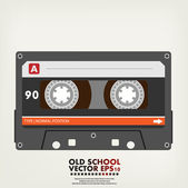 Retro audio cassette tape — Vector de stock