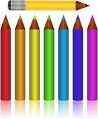 Set of Coloured pencils. — Stock Vector