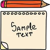 Renkli kurşun kalem simgesi ve kağıt — Stok Vektör