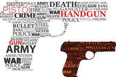Typographic handgun — Stock Vector