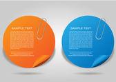 Набор баннеров дизайн шаблонов — Cтоковый вектор