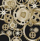 Metalen tandwielen en tandwielen — Stockvector