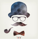 Gentleman portrait — Vector de stock