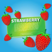 Strawberry background — Stock Vector
