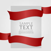 Gray banner with red ribbon — Stockvektor