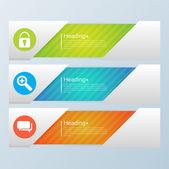 Design template banners set — Stock Vector