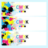 Abstract CMYK banners set — Stock Vector