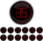 Set of timers — Stock Vector