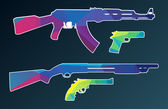 Triangle vector collection of weapon — 图库矢量图片