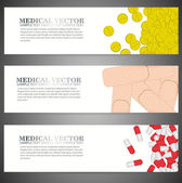 Banners suitable for medical topics — Stock Vector