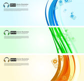 Colorful banners on different topics — Vector de stock