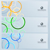 Set of abstract rings banners — Stock Vector