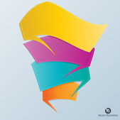 Colorful vector design for workflow — Stock Vector