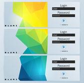 Vector login interface set - username and password — Stock Vector